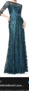Tadashi Shoji Evening Dress Sz 10 Teal